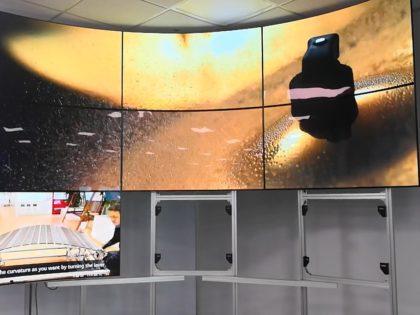 Flexible OLED curved screen convex display