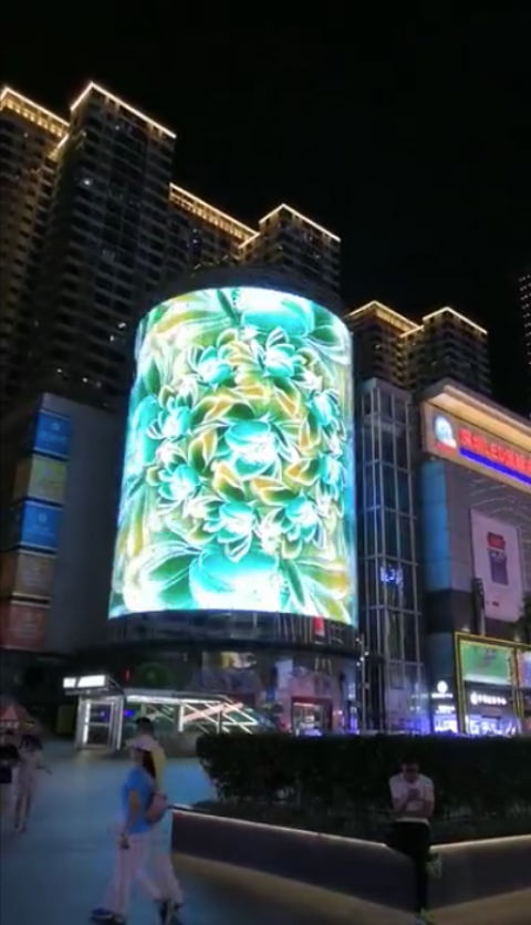 Transparent LED building facade display