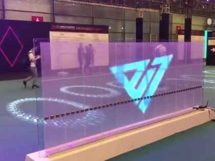 Flexible transparent LED screen display