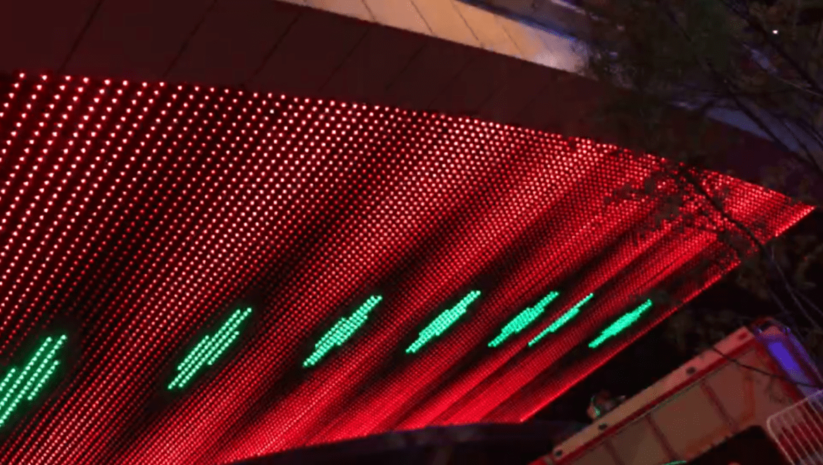 Soffitto a LED Mesh display rosso
