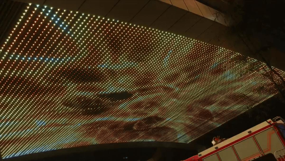 Mesh LED ceiling