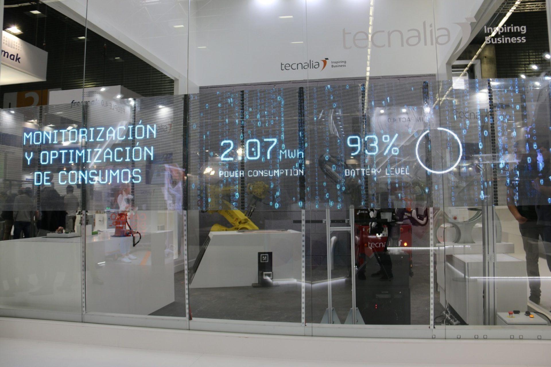 Transparent LED adhesive Digital Brand Experience – Tecnalia BIEMH 2018