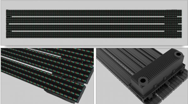 Фасадные сетки светодиодный экран T серия шаг 13-16 - 20 Открытый