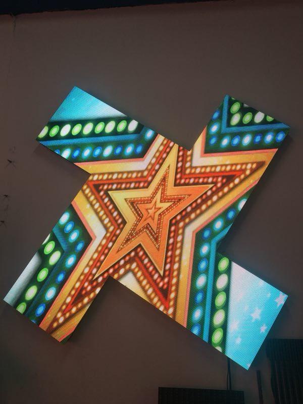 odular custom shape LED wall display screen