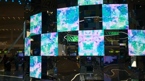 Светодиодные Выставка - красочные установки