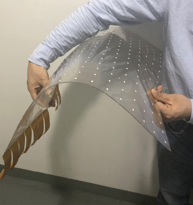 invisible adhesive glass curve Transparent led film