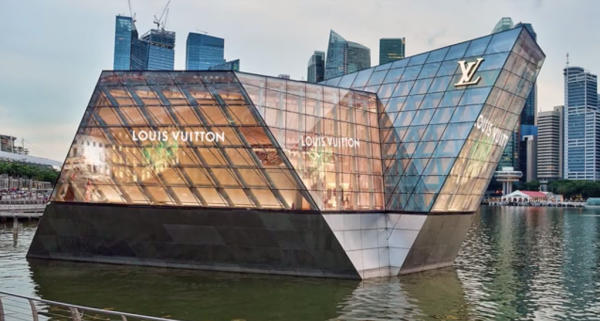 nvisible adhesive LED on the Louis Vuitton projects