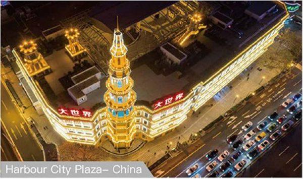 Проект Harbour City Plaza с пиксель светодиодные огни C89
