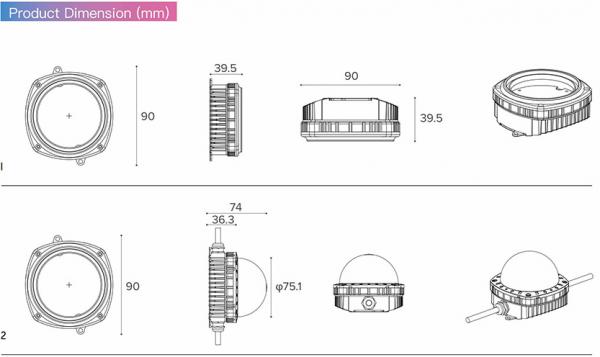 Размер пикселя C89 светодиодные огни