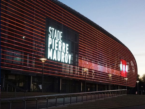 full media facade second picture Imagic weave Stade Pierre Mauroy France