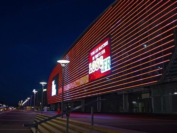 full media facade Imagic weave Stade Pierre Mauroy France