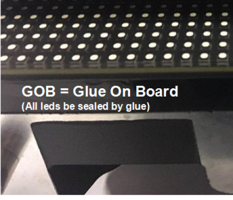 GOB glue on Board