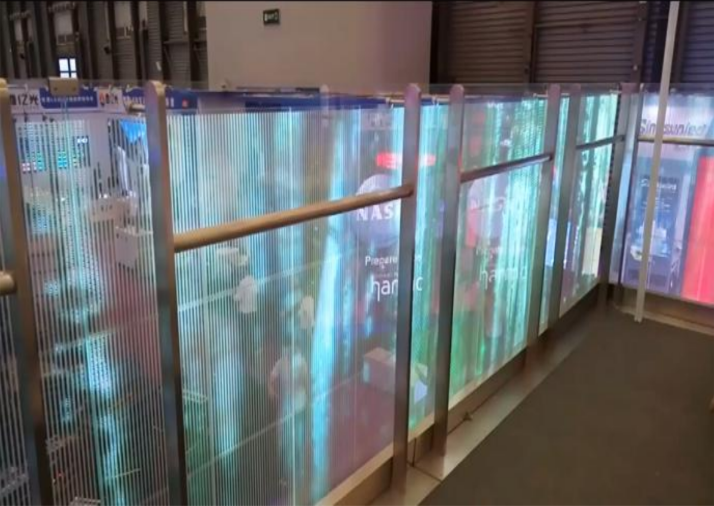 Guardrail adhesive led screen