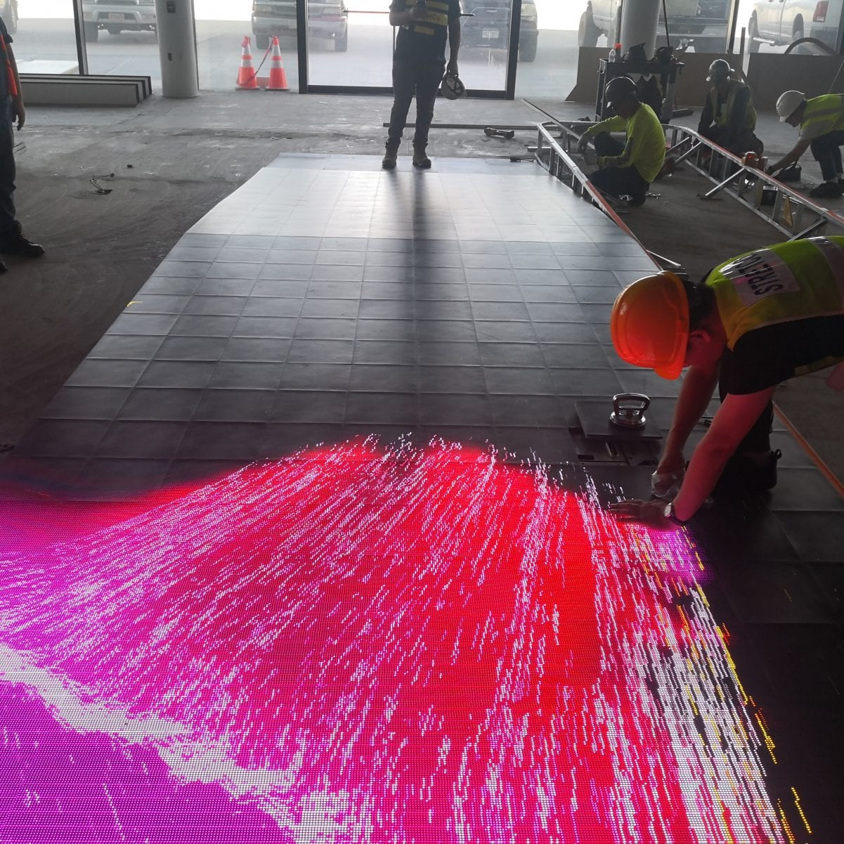 Interactive led floors astrowalk and technician