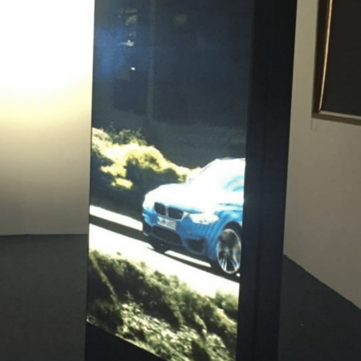 LED sliding screens BMW
