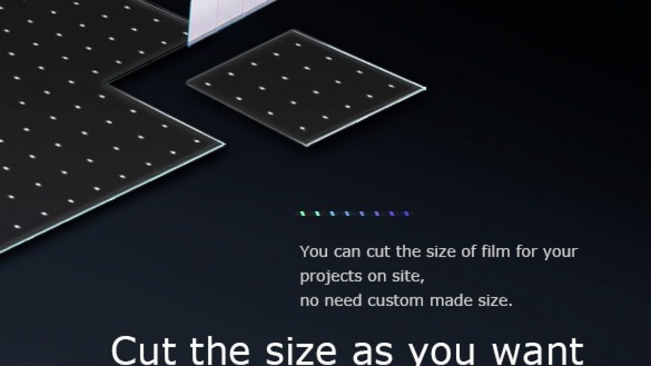 size stickit LED film