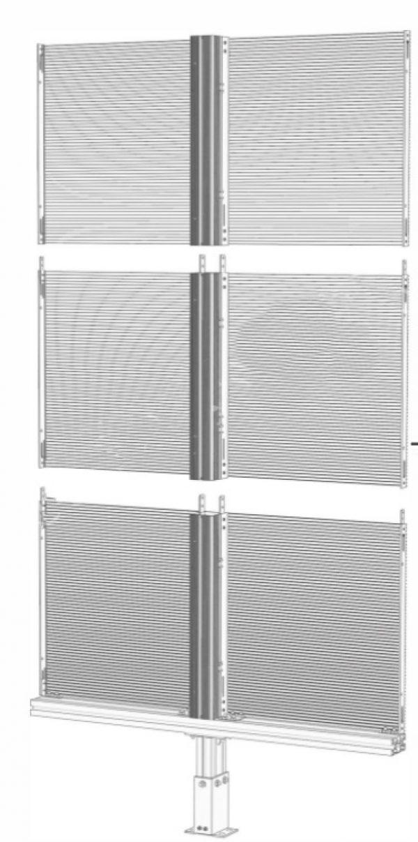 NJ trasparent LED display