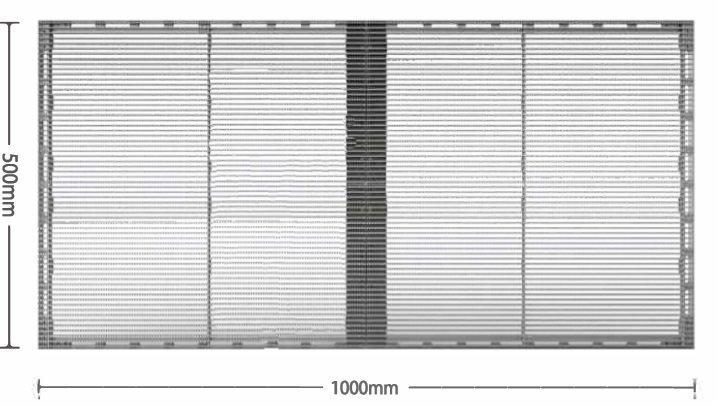 XRW Standard transparent LEDcabinet width
