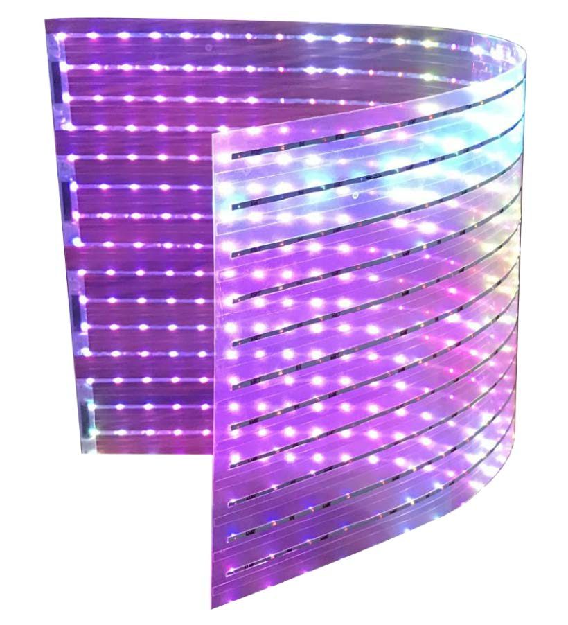 Adhesive LED Screen power on