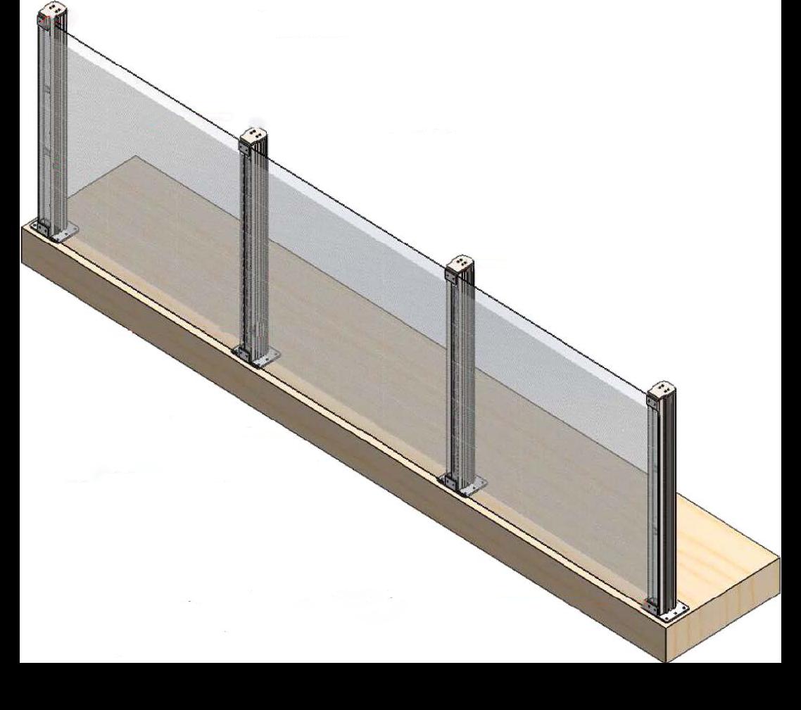 Guardrail Transparent Adhesive no background