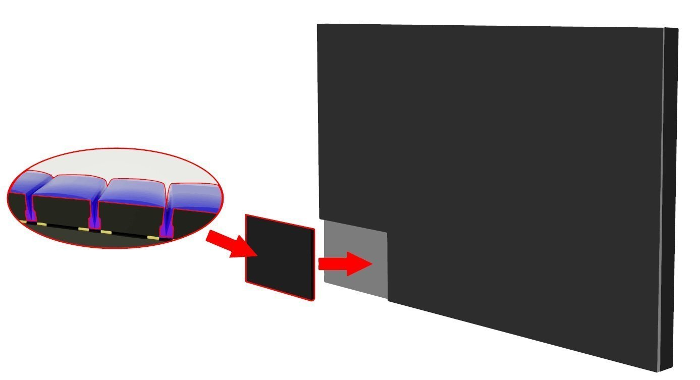Large display touch capability AOB