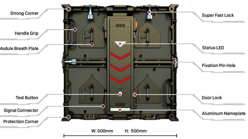 Mecanus Standard LED Outdoor module size