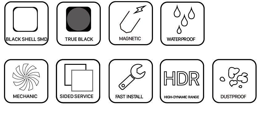 Metrus standard LED Outdoor features