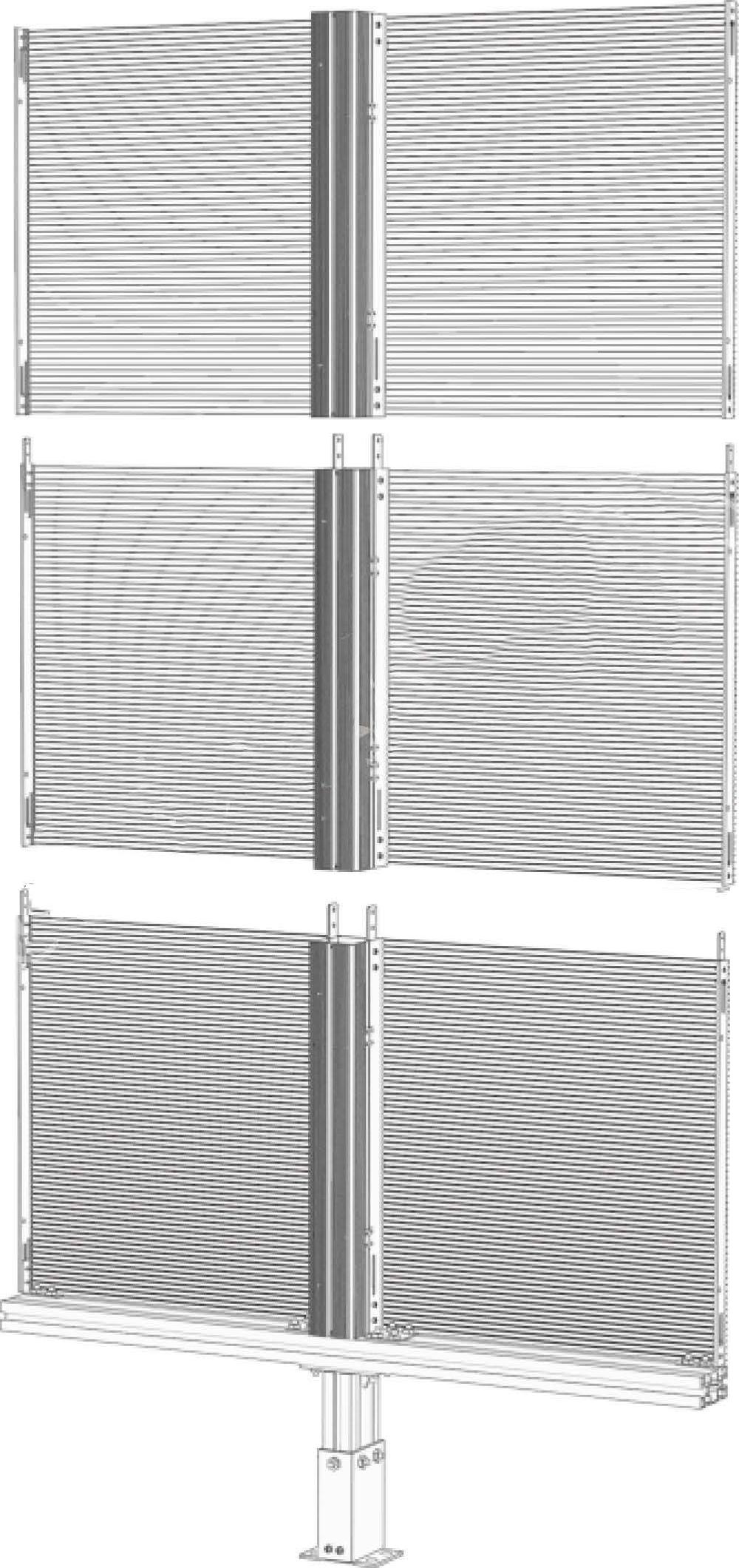NJ standard transparent LED assembling cabinet no background
