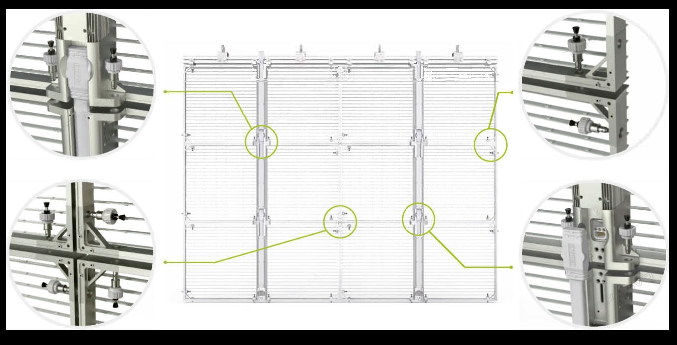 NR-rental standard transparent Led serie-Assemblage