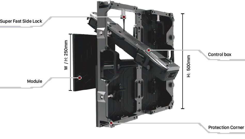 Reaper Standard LED Outdoor Cabinet View 2