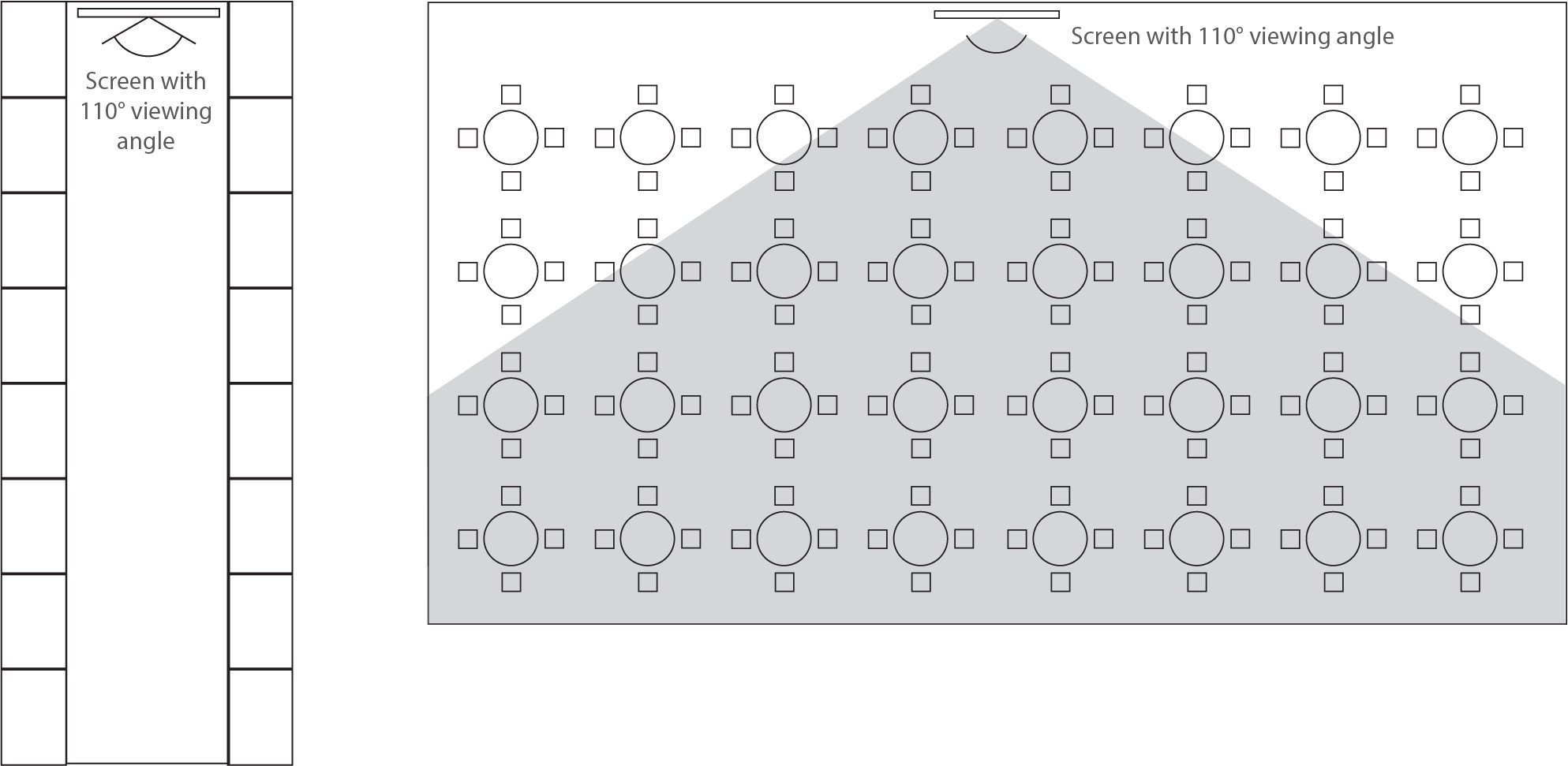 screen with 110° viewing angle schema