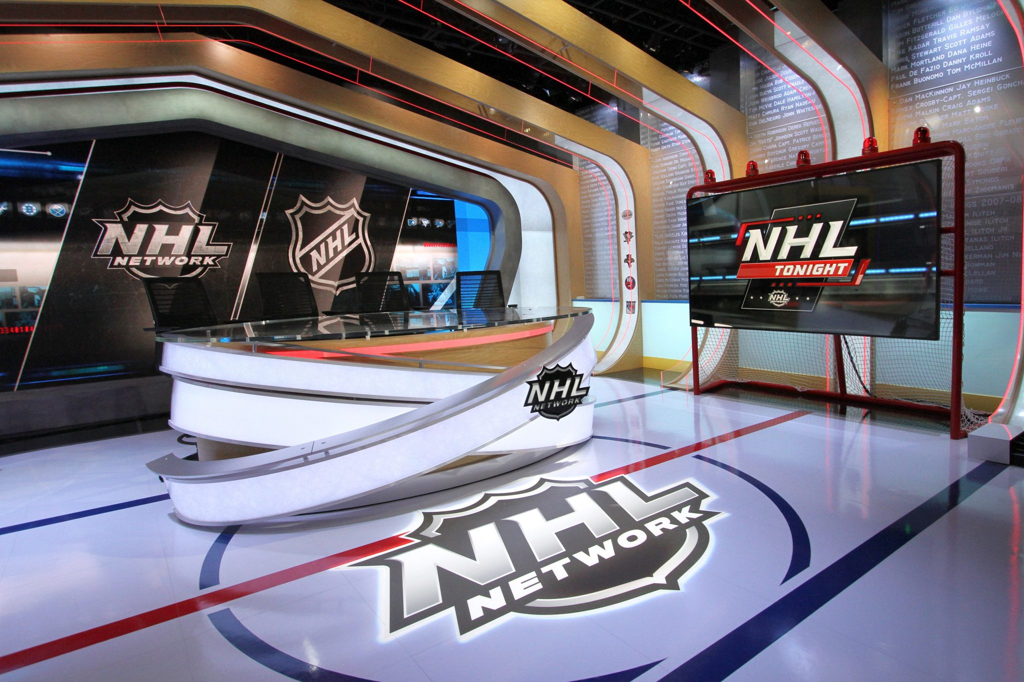 Led screen for tv tray NHL Network