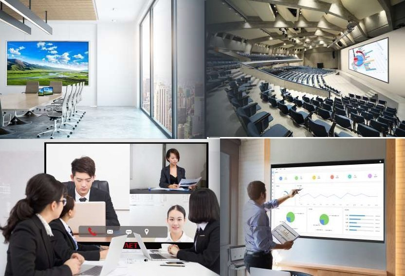 Led screen conference and meeting visioconference and prsentation with touch capability