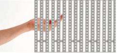 Transparency LED mesh media facade