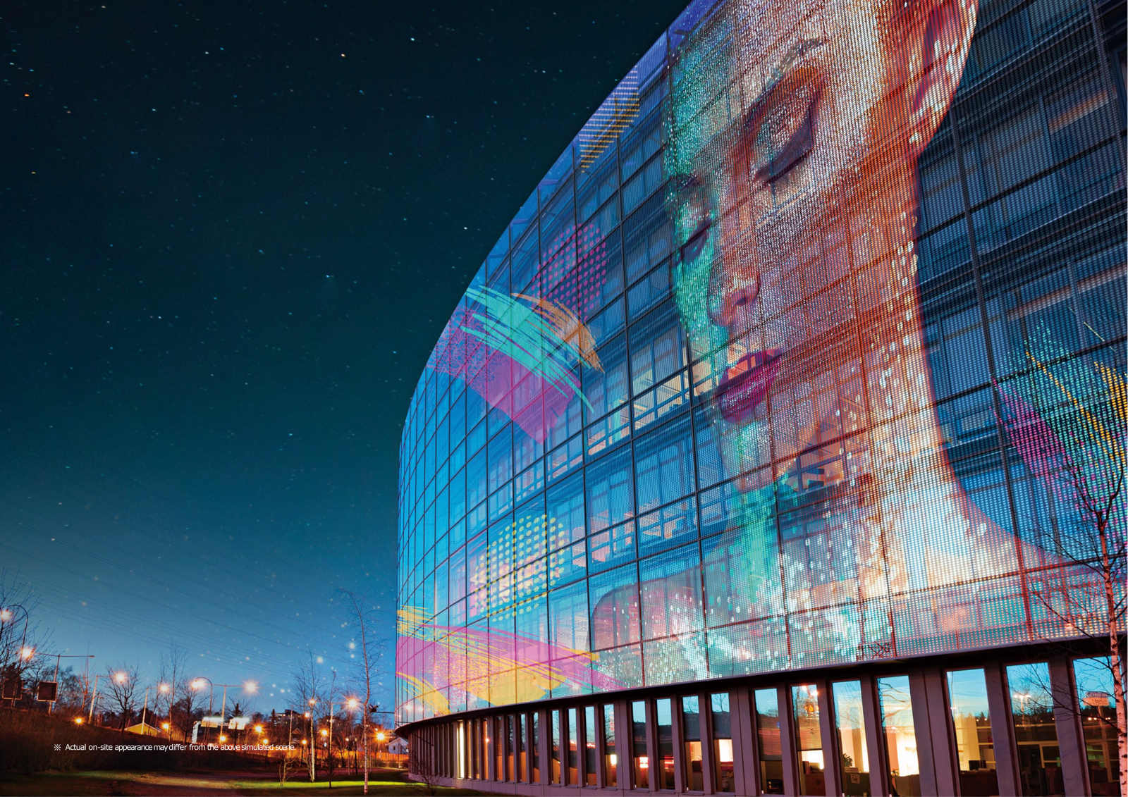facade building Marketing Campaigns with Transparent LED Films