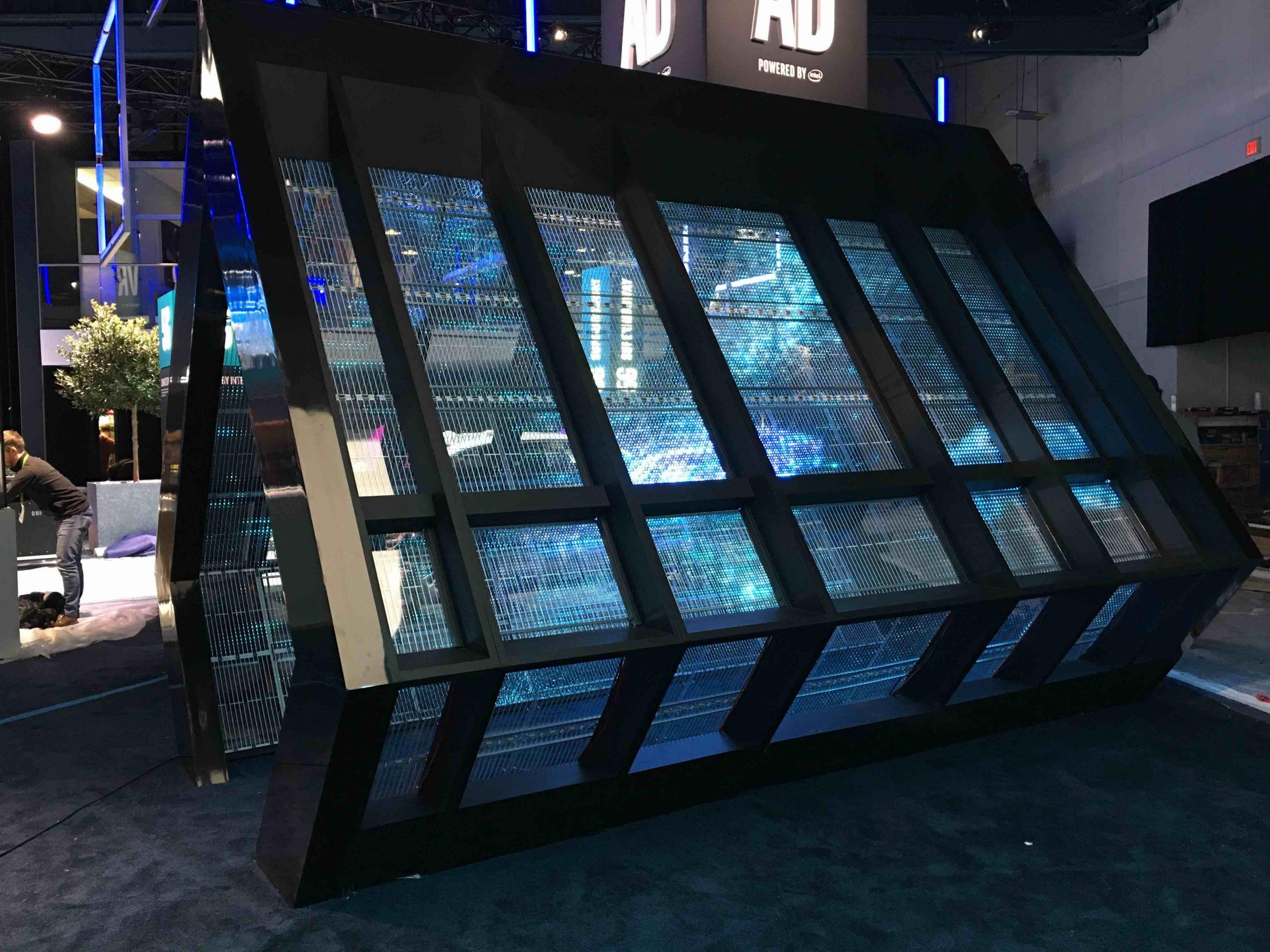 Adhesif transparent LED display