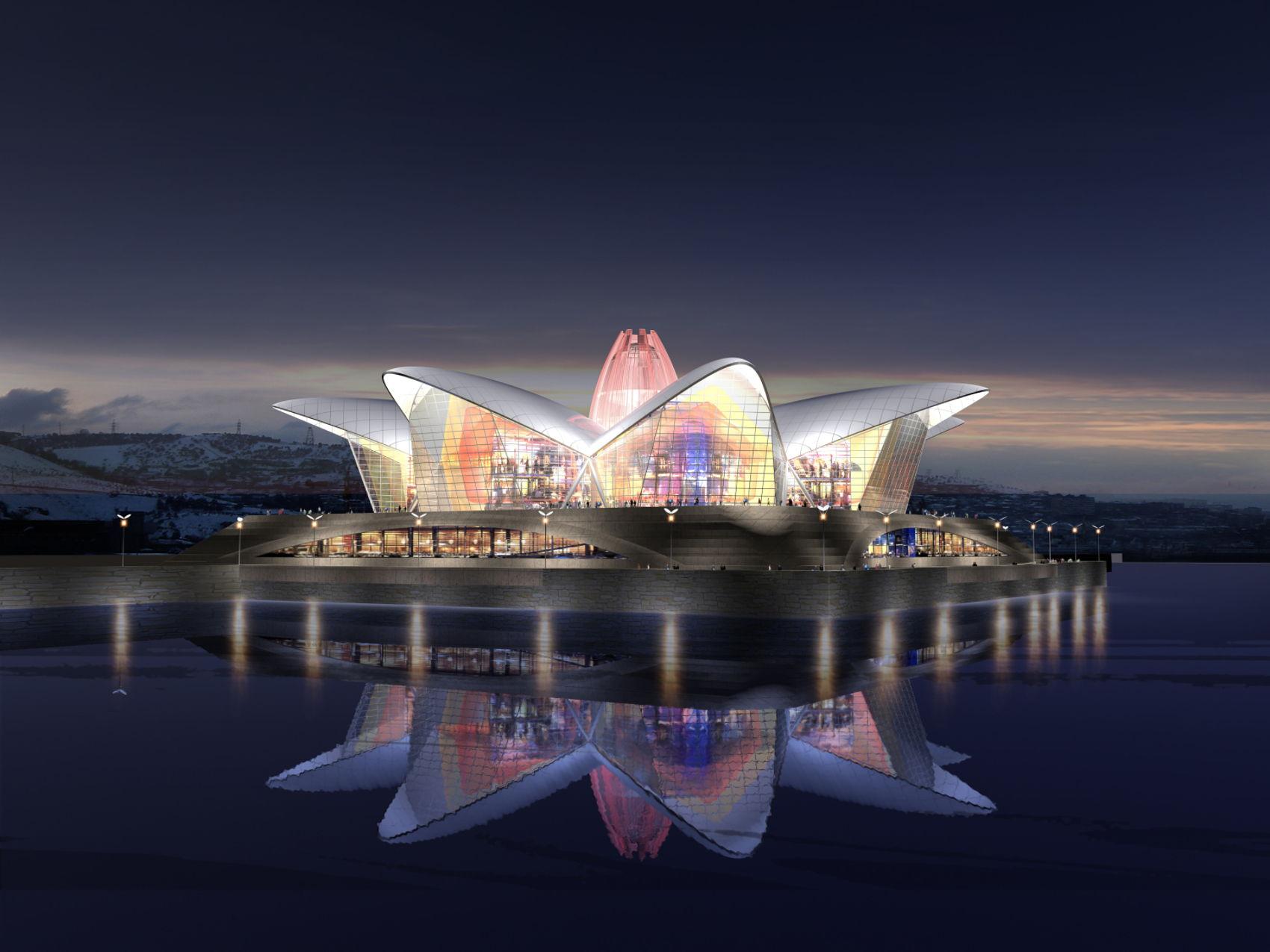 facade-outdoor-giant-led-screen-CYLINDER-FLEXIBLE-LED-DISPLAY-SCREEN-FOR-DENIZ-MALL-BAKU-AZERBAIJAN