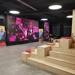 conference room of Paris &Co Egaming center giant led screen