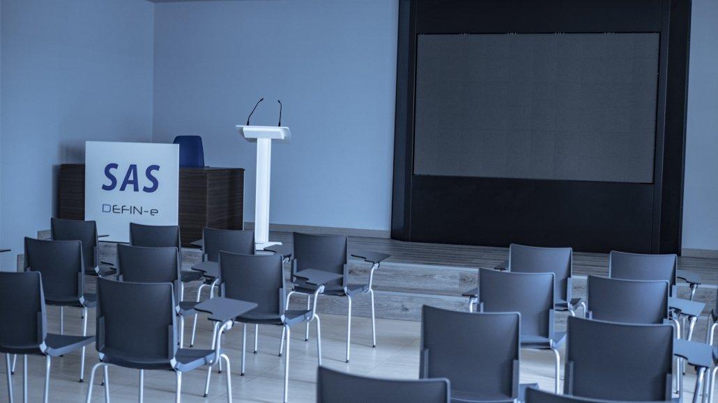 SAS defin-e professional conference screen