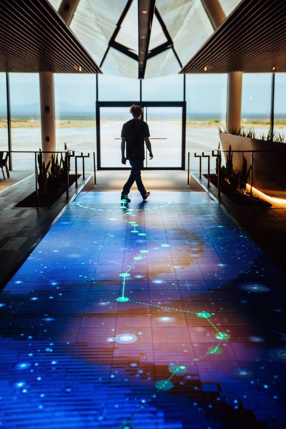 AstroWalk floor interactive led display