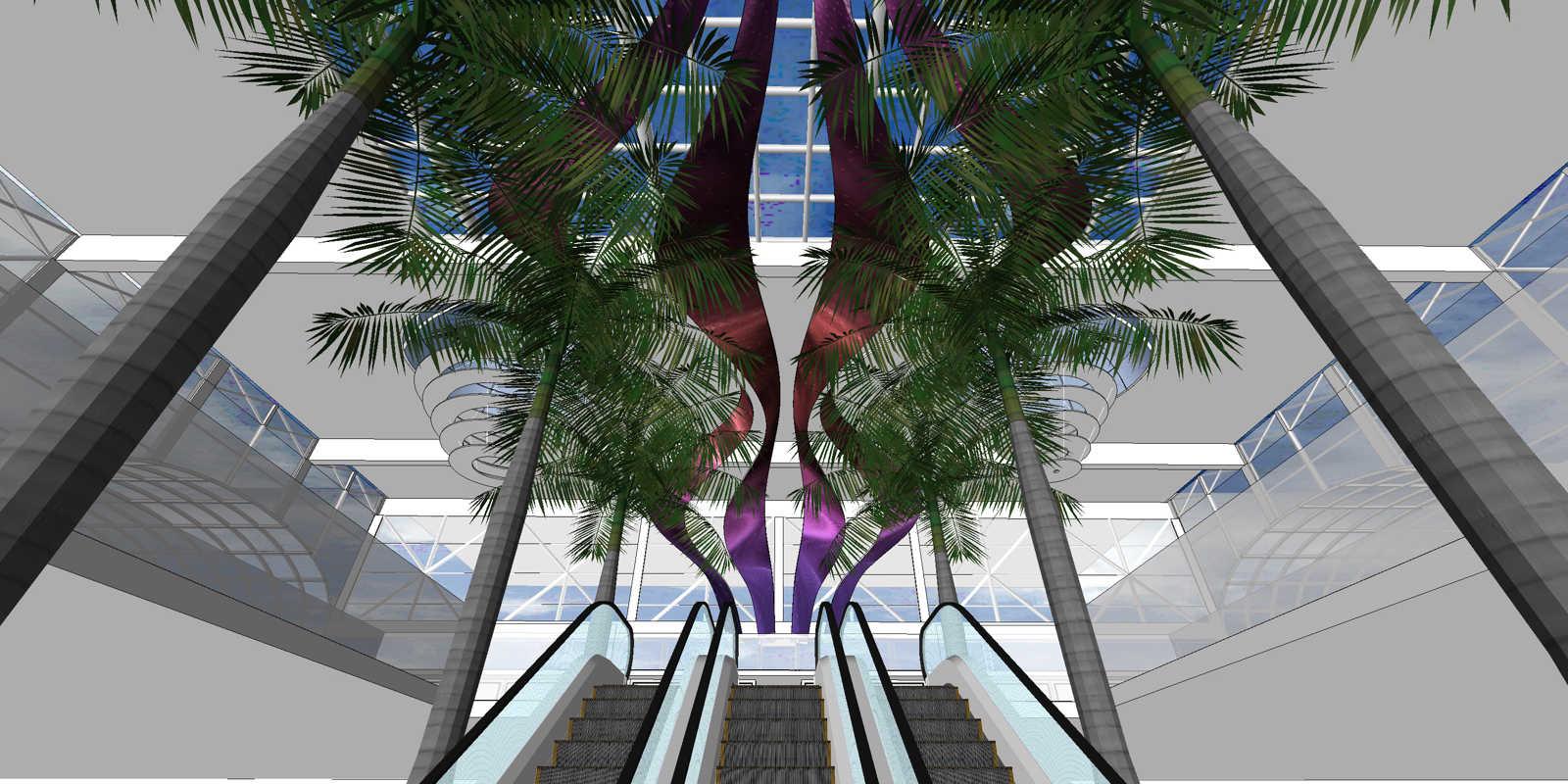 conception-CAO-flexible-LED-display-screen-Nevada-Shopping-mall-Granada