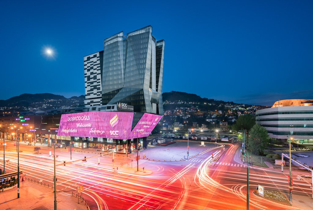 building led sarajevo city center giant LED Screen