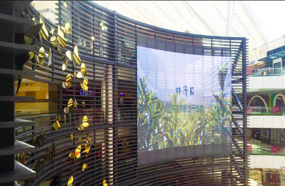Shanghai Powerlong Shopping Center Project LED display screen on mall daytime
