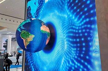 écran LED globe transparent