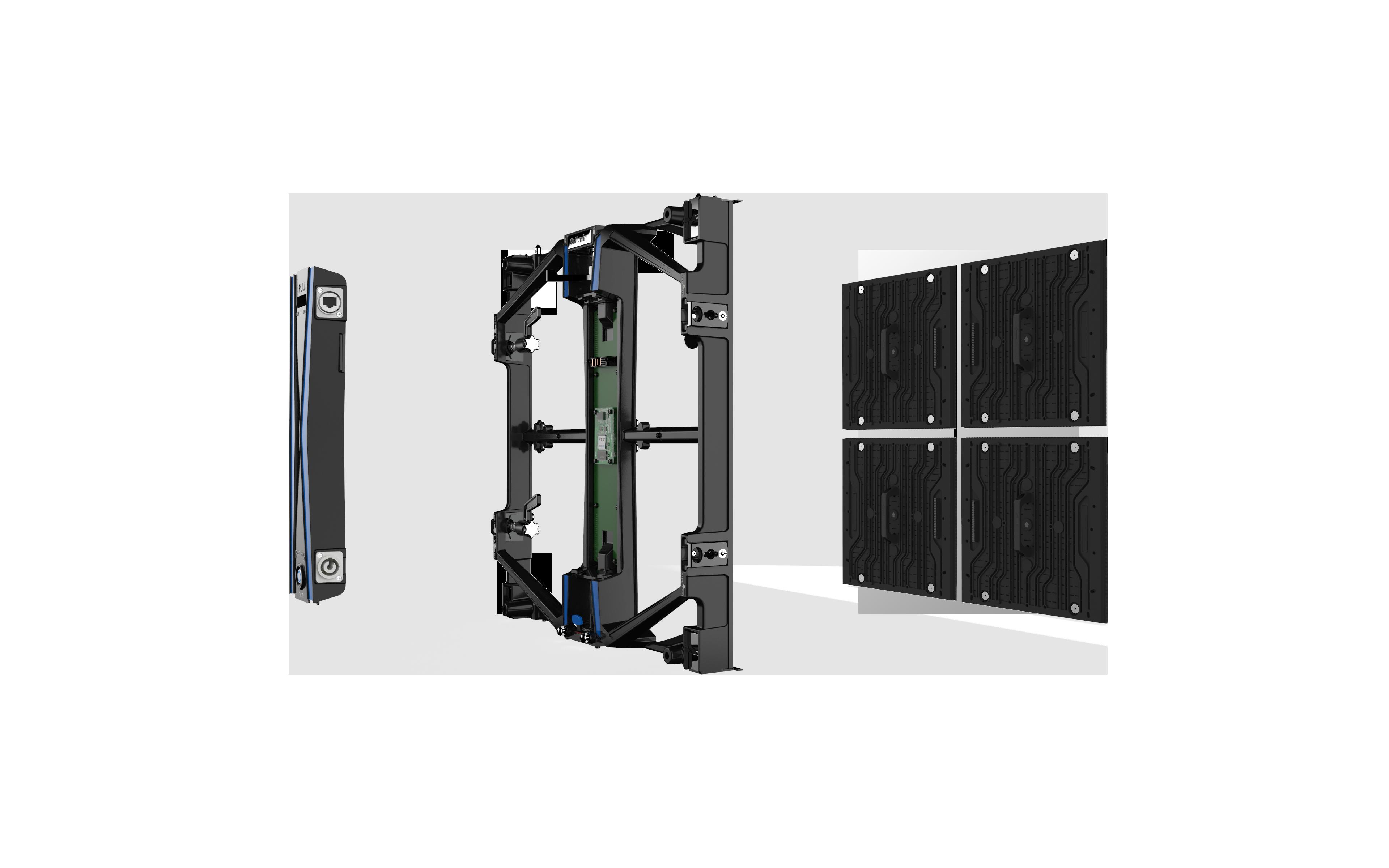 UPAD4 virtual production rental led assembled
