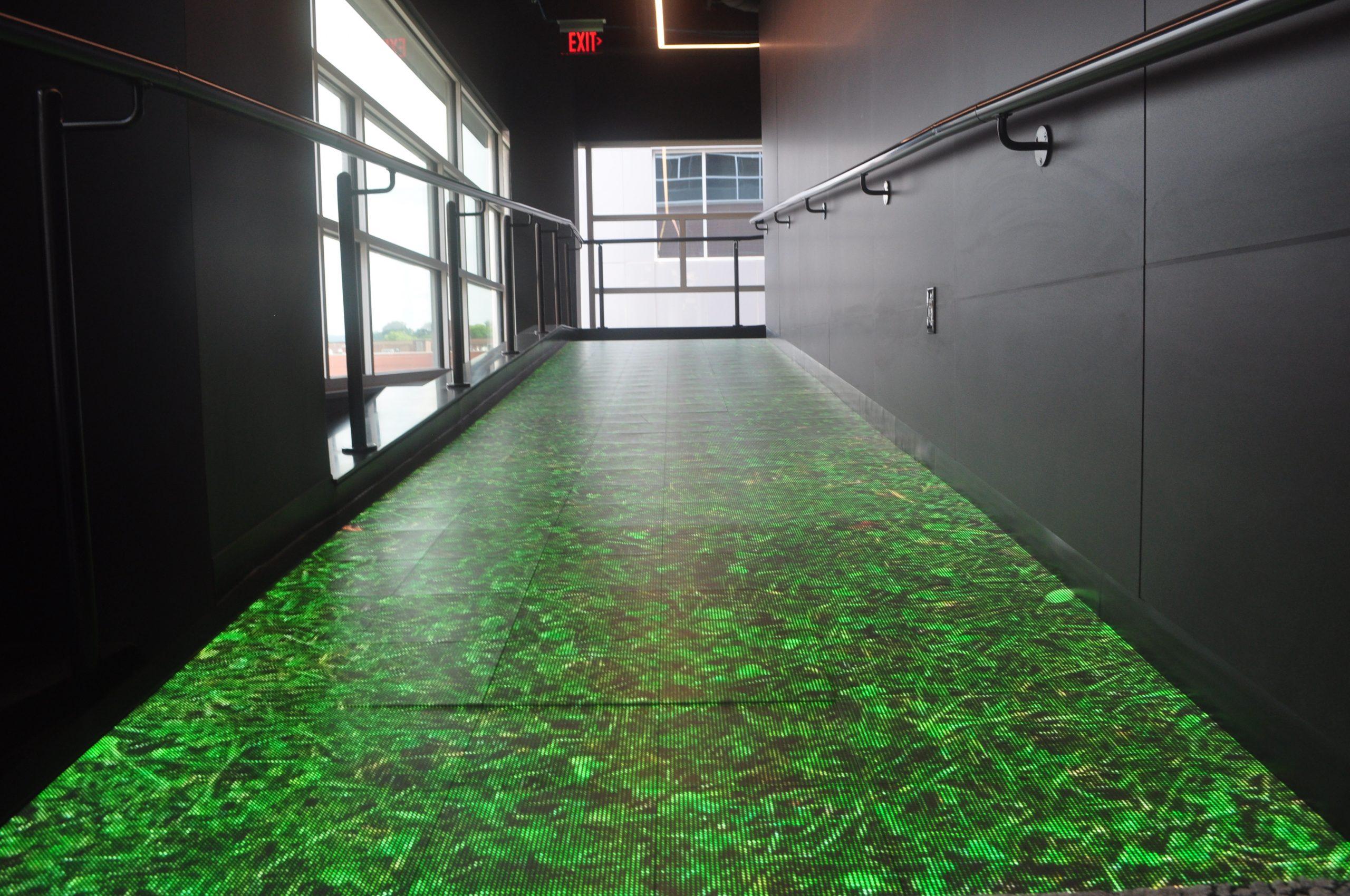 led floor walnut capital grass
