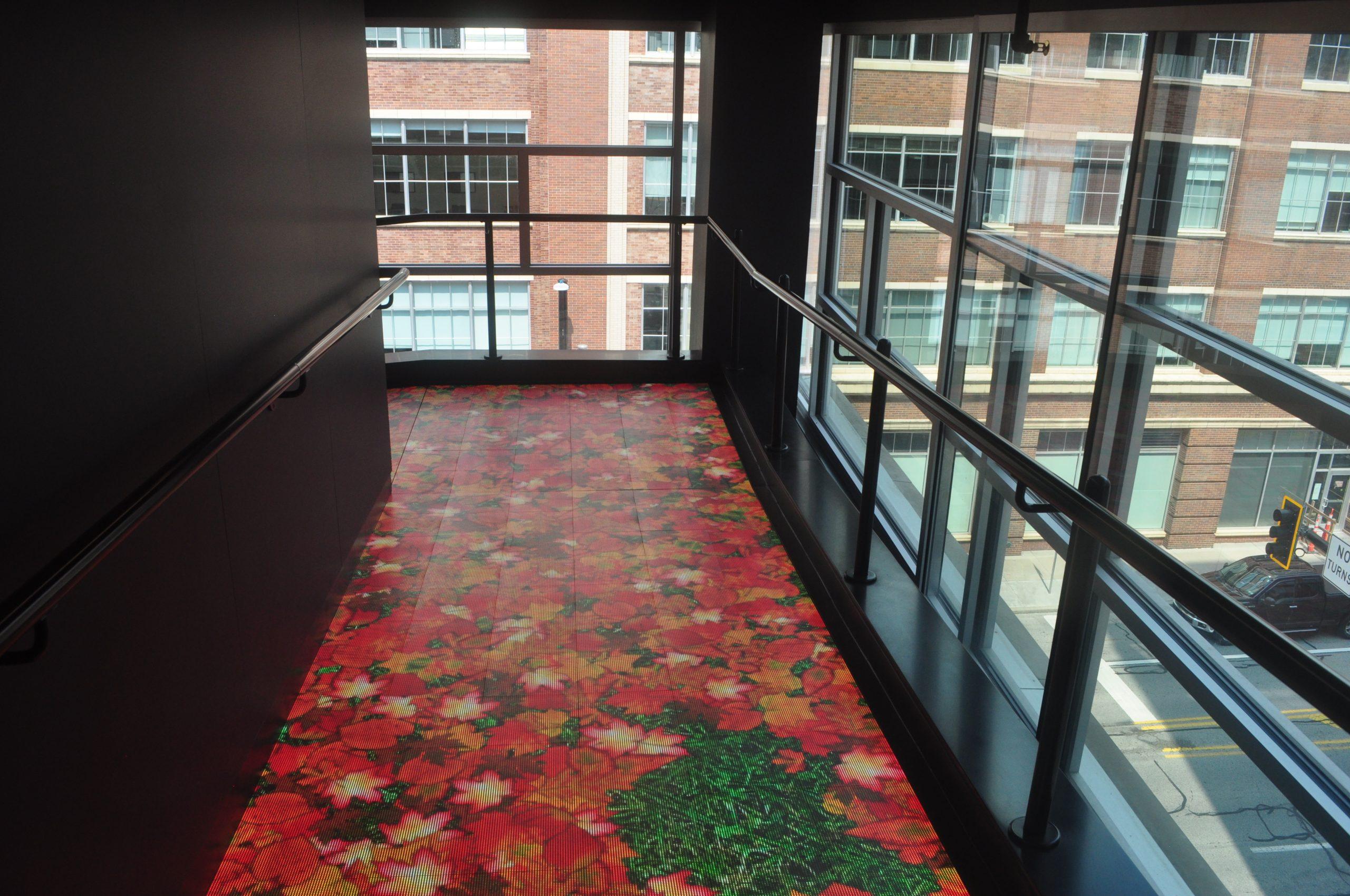 led floor walnut capital flower