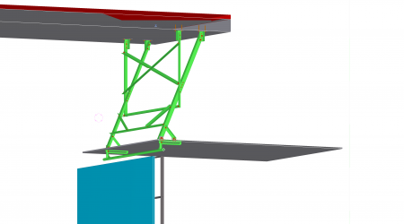 CAO concept led display screen structure