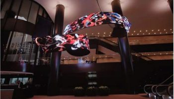 led display flexible tailored cylinder