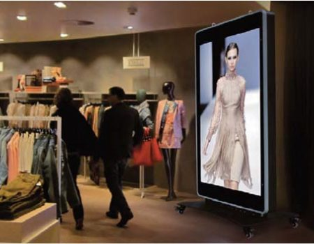 Led display screen on store